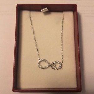 """Silver """"Love"""" infinity sign necklace"""